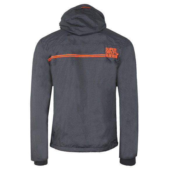 Superdry Mens Black Arctic Hooded Pop Zip Windcheater main image
