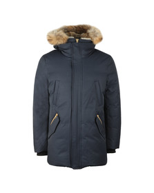 Mackage Mens Blue Edward Hooded Jacket