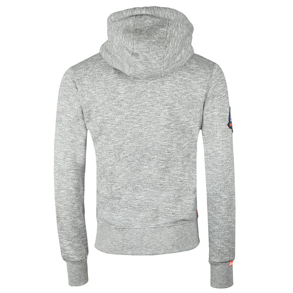 Superdry Mens Grey Orange Label Mountain Ziphood main image