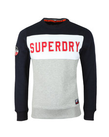 Superdry Mens Multicoloured Academy Colour Block Crew Sweat