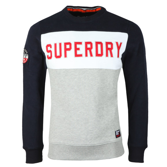 Superdry Mens Multicoloured Academy Colour Block Crew Sweat main image