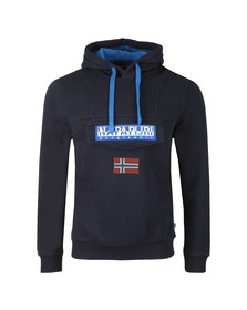 Napapijri Mens Blue Burgee 2 Hooded Sweat