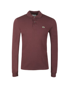 Lacoste Mens Purple  L1312 Long Sleeve Polo