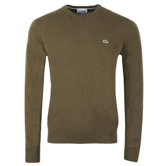 Lacoste Mens Green AH0841 Wool Jumper main image