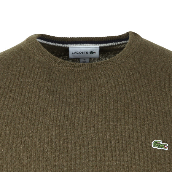 Lacoste Mens Green AH0841 Wool Jumper
