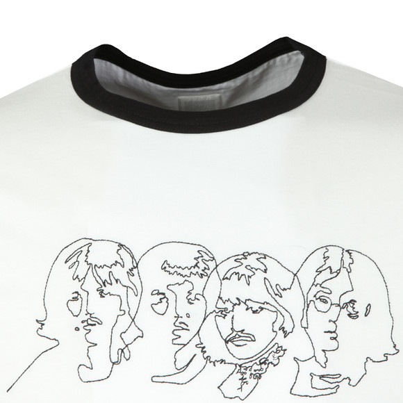 Pretty Green Mens White Beatles Savoy Tee main image
