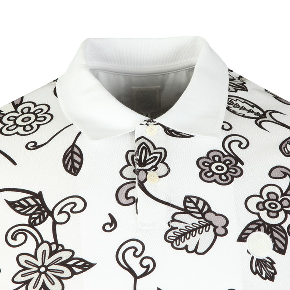 Pretty Green Mens Grey S/S Prudence Print Polo main image