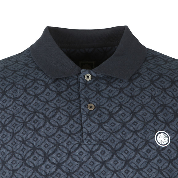Pretty Green Mens Blue Textured Polo main image