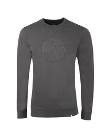 Pretty Green Mens Grey Applique Sweat