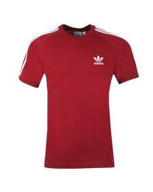adidas Originals Mens Red 3 Stripes Tee