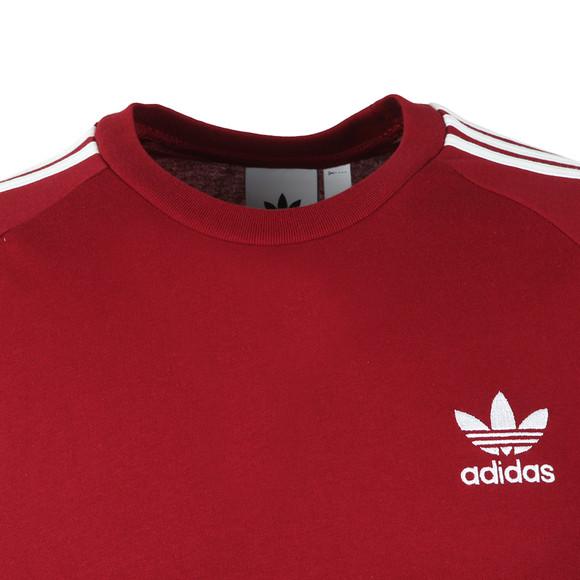 adidas Originals Mens Red 3 Stripes Tee main image