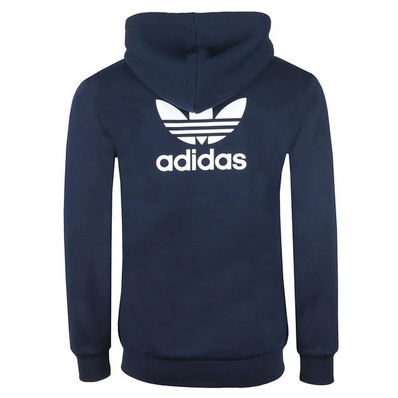 Adidas Originals Mens Blue Trefoil Fleece Hoodie main image