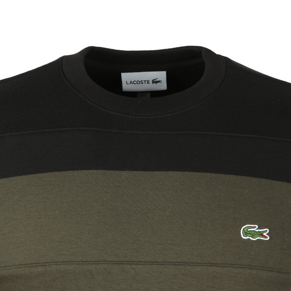 Lacoste Mens Black SH1902 Sweatshirt main image