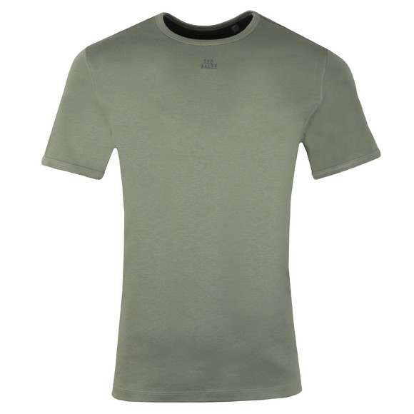 Ted Baker Mens Green SS Branded Anniversary T-Shirt main image