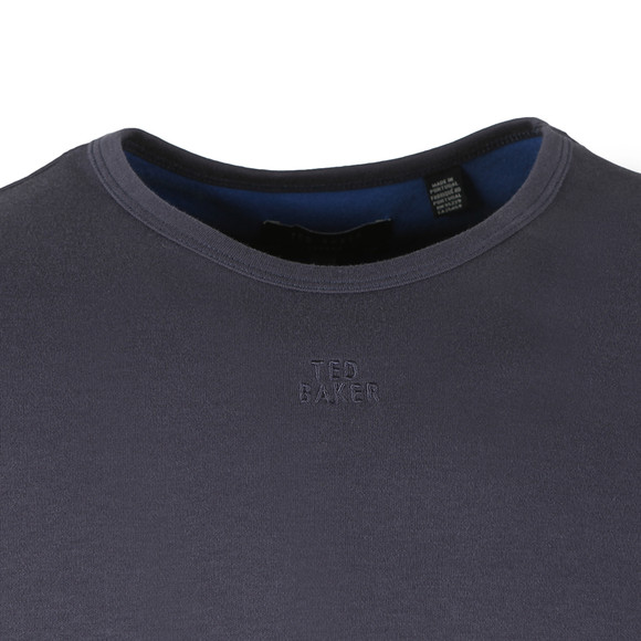 Ted Baker Mens Blue SS Branded Anniversary T-Shirt main image