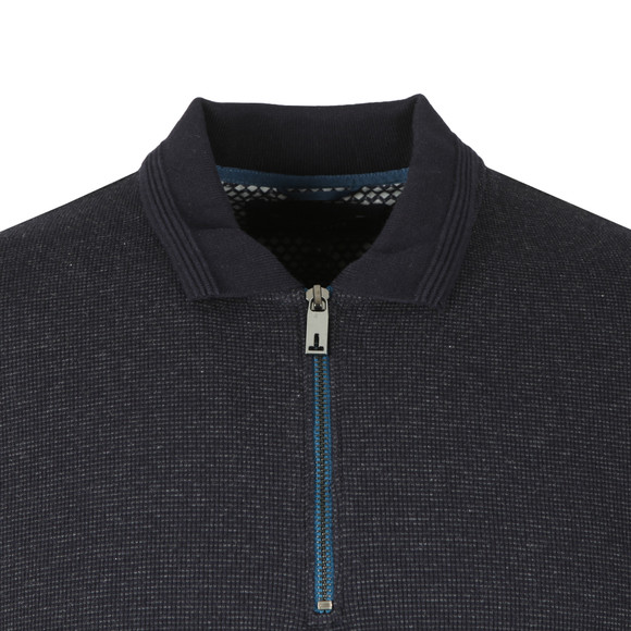 Ted Baker Mens Blue Caoco LS Zip Detail Polo main image