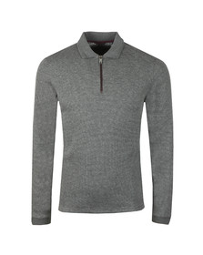 Ted Baker Mens Grey Caoco LS Zip Detail Polo
