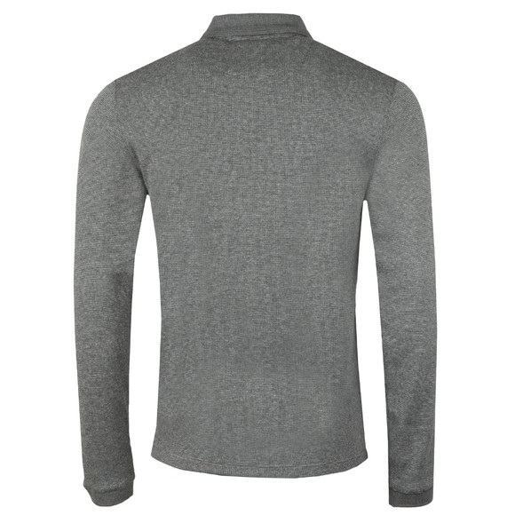 Ted Baker Mens Grey Caoco LS Zip Detail Polo main image