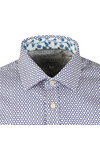 Ted Baker Mens Blue Pramm L/S Hexagon Endurance Shirt
