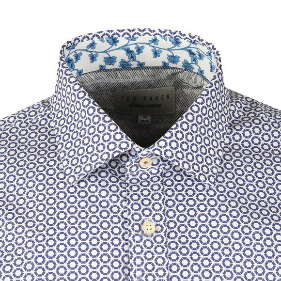 Ted Baker Mens Blue Pramm L/S Hexagon Endurance Shirt main image
