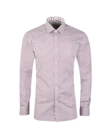 Ted Baker Mens Pink Pramm L/S Hexagon Endurance Shirt