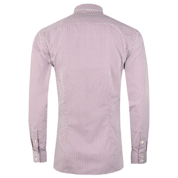 Ted Baker Mens Pink Pramm L/S Hexagon Endurance Shirt main image