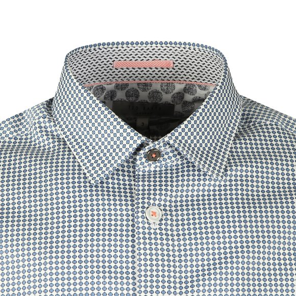 Ted Baker Mens Blue Jenkins LS Geo Printed Shirt main image