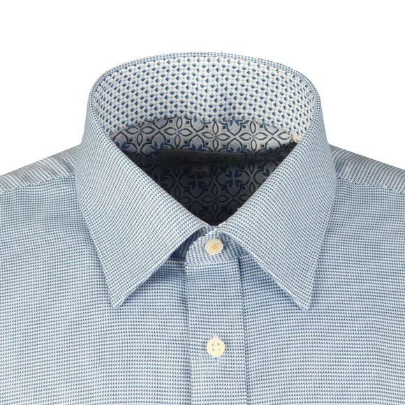 Ted Baker Mens Blue Shell L/S Houndstooth Endurance Shirt main image
