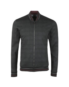 Ted Baker Mens Black Tootie LS Checked Jersey Bomber