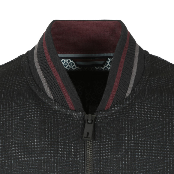 Ted Baker Mens Black Tootie LS Checked Jersey Bomber main image