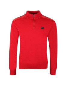 Paul & Shark Mens Red The Original C0P175 Half Zip Jumper