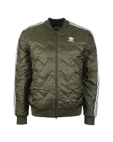 Adidas Originals Mens Green SST Quilted Jacket