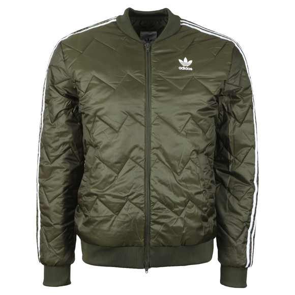 adidas Originals Mens Green SST Quilted Jacket main image