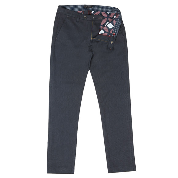 Ted Baker Mens Blue Willham Slim Fit Textured Trouser main image