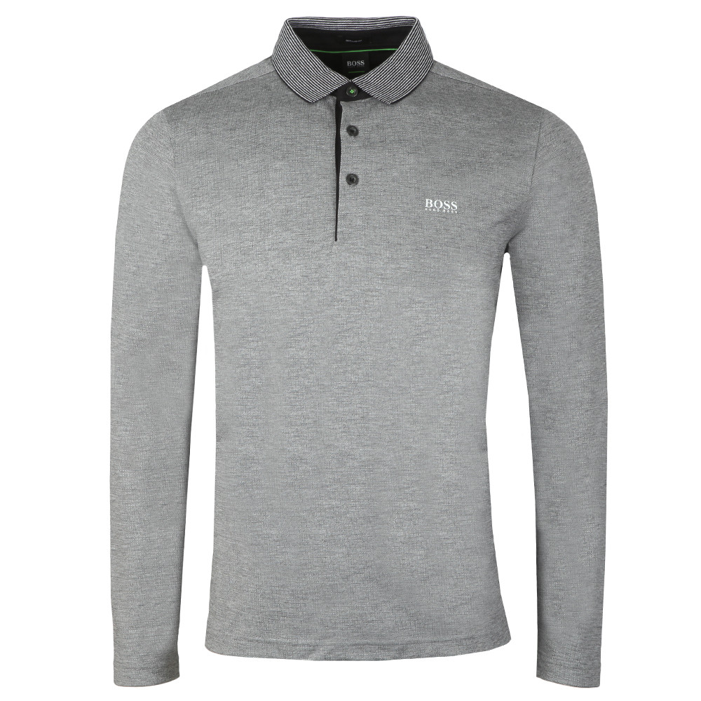 bde004935ced BOSS Athleisure Plisy LS Polo Shirt | Oxygen Clothing