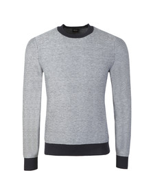 BOSS Mens Blue Casual Akanice Jumper