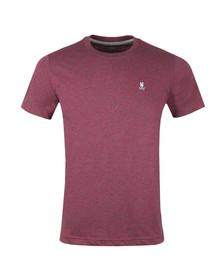 Psycho Bunny Mens Red Classic Crew Neck T-Shirt