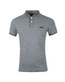 Superdry Mens Grey Classic SS Jacq'd Jersey Polo