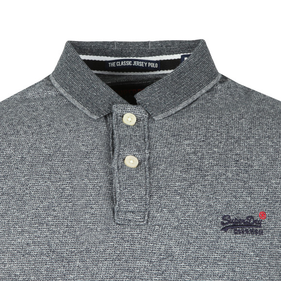 Superdry Mens Grey Classic SS Jacq'd Jersey Polo main image