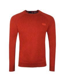 Superdry Mens Orange Orange Label Crew Jumper