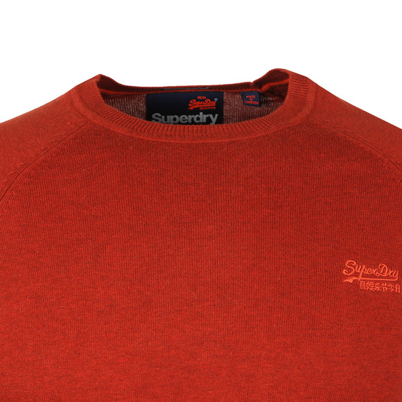 Superdry Mens Orange Orange Label Crew Jumper main image