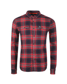 Superdry Mens Red Winter Washbasket Shirt