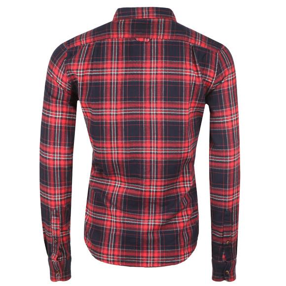 Superdry Mens Red Winter Washbasket Shirt main image