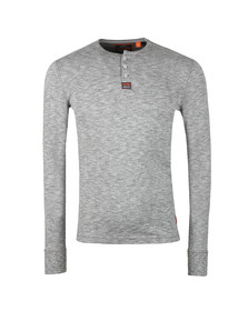Superdry Mens Grey Heritage Grandad LS Top