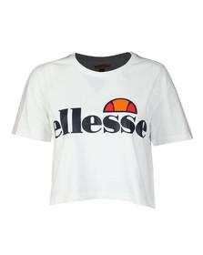 Ellesse Womens White Badia Crop T Shirt