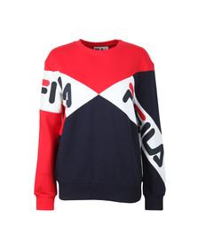 Fila Womens Red Lidia Cotton Blend Sweatshirt