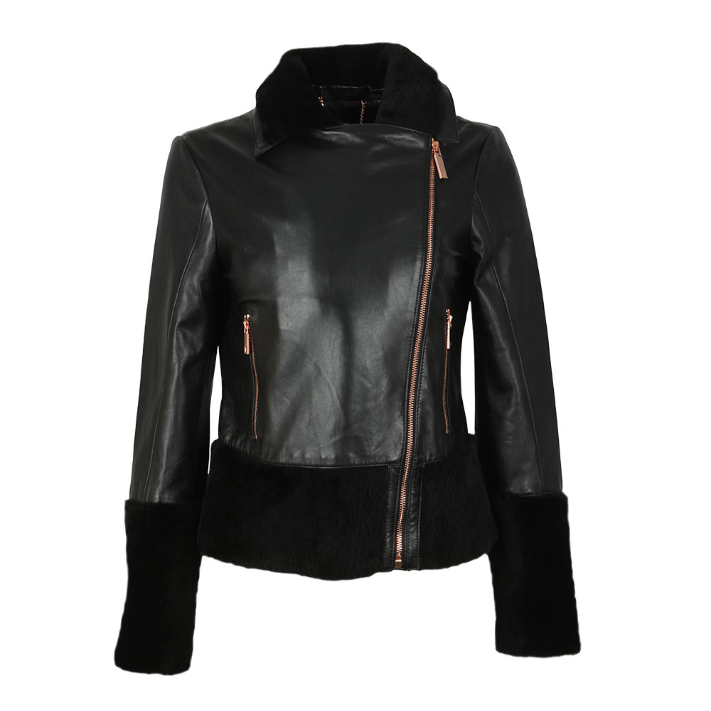 Rosania Zip Off Shearling Biker Jacket main image
