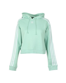 Adidas Originals Womens Green Cropped Hoodie