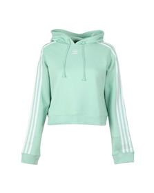Adidas Originals Womens Blush Green Cropped Hoodie