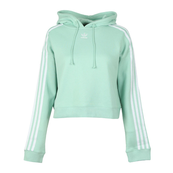 adidas Originals Womens Green Cropped Hoodie main image